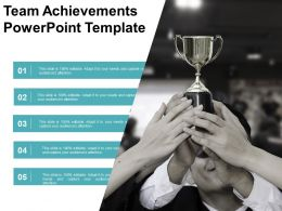 Team Achievements Powerpoint Template