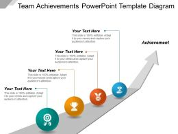 Team Achievements Powerpoint Template Diagram