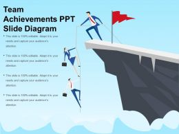 Team Achievements Ppt Slide Diagram