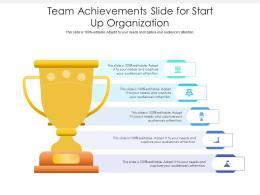 Team Achievements Slide For Start Up Organization Infographic Template