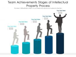 Team Achievements Stages Of Intellectual Property Process Infographic Template
