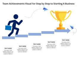 Team Achievements Visual For Step By Step To Starting A Business Infographic Template