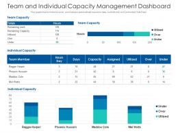 Team And Individual Capacity Management Dashboard