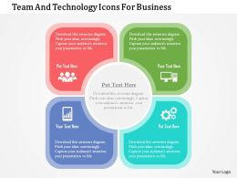 Team And Technology Icons For Business Flat Powerpoint Design