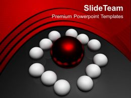 Team Around Leader Business Concept Powerpoint Templates Ppt Themes And Graphics 0213
