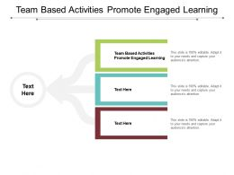 Team Based Activities Promote Engaged Learning Ppt Powerpoint Presentation Slides Cpb