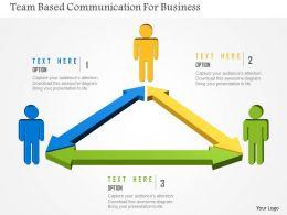 team_based_communication_for_business_flat_powerpoint_design_Slide01