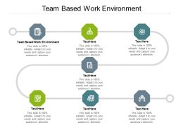 Team Based Work Environment Ppt Presentation Inspiration Examples Cpb