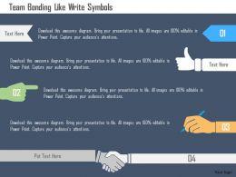 Team Bonding Like Write Symbols Flat Powerpoint Design