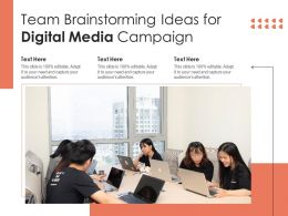 Team Brainstorming Ideas For Digital Media Campaign