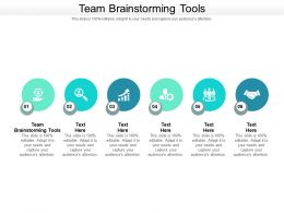 Team Brainstorming Tools Ppt Powerpoint Presentation Infographic Template Objects Cpb