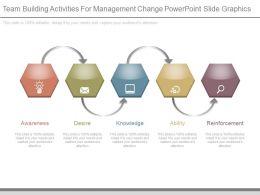 Team Building Activities For Management Change Powerpoint Slide Graphics