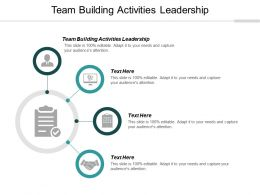 Team Building Activities Leadership Ppt Powerpoint Presentation Infographic Tips Cpb