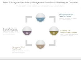 Team Building And Relationship Management Powerpoint Slide Designs Download