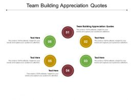 Team Building Appreciation Quotes Ppt Powerpoint Presentation File Gallery Cpb