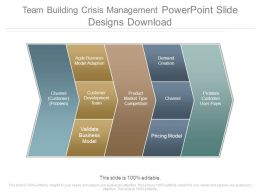 Team Building Crisis Management Powerpoint Slide Designs Download