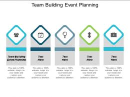 Team Building Event Planning Ppt Powerpoint Presentation Styles Deck Cpb