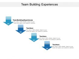 Team Building Experiences Ppt Powerpoint Presentation Layouts Portrait Cpb