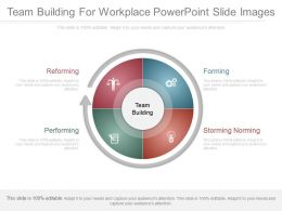 Team Building For Workplace Powerpoint Slide Images