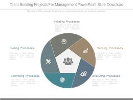Team Building Projects For Management Powerpoint Slide Download