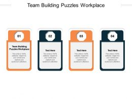 Team Building Puzzles Workplace Ppt Powerpoint Presentation File Themes Cpb