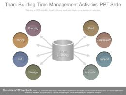 Team Building Time Management Activities Ppt Slide