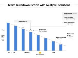 Team Burndown Graph With Multiple Iterations
