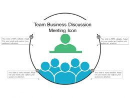 Team Business Discussion Meeting Icon