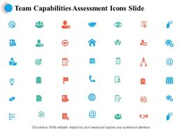 Team Capability Assessment Icons Slide Business Strategy Marketing