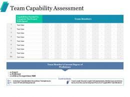 Team Capability Assessment Ppt Portfolio Infographic Template