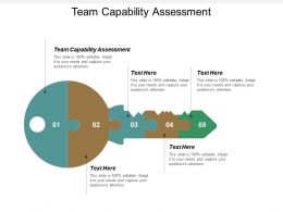 Team Capability Assessment Ppt Powerpoint Presentation Icon Professional Cpb