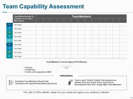 Team Capability Assessment Ppt Professional Background Designs