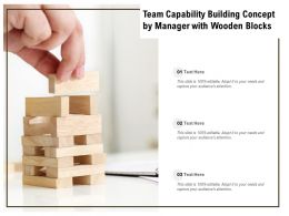 Team Capability Building Concept By Manager With Wooden Blocks