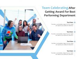 Team Celebrating After Getting Award For Best Performing Department