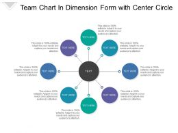 Team Chart In Dimension Form With Center Circle