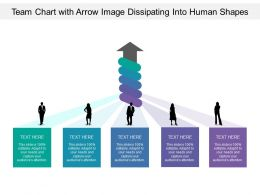 Team Chart With Arrow Image Dissipating Into Human Shapes