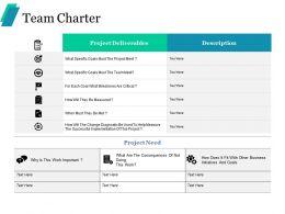 Team Charter Ppt Portfolio Background Images