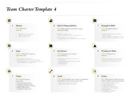 Team Charter Template Fun Events Ppt Powerpoint Presentation Layouts Aids