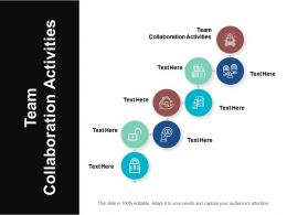Team Collaboration Activities Ppt Powerpoint Presentation Summary Images Cpb