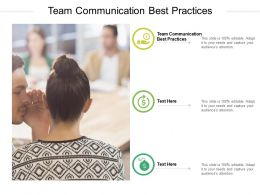 Team Communication Best Practices Ppt Powerpoint Presentation Professional Information Cpb