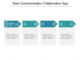 Team Communication Collaboration App Ppt Powerpoint Presentation Inspiration Master Cpb