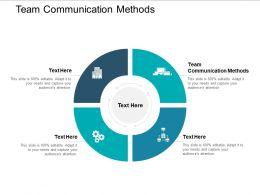 Team Communication Methods Ppt Powerpoint Presentation File Display Cpb