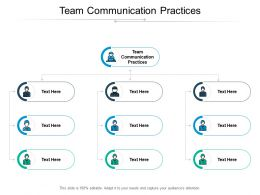 Team Communication Practices Ppt Powerpoint Presentation Icon Good Cpb