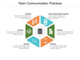 Team Communication Practices Ppt Powerpoint Presentation Visual Aids Slides Cpb