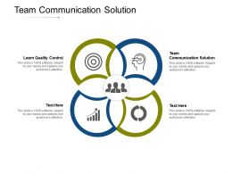 Team Communication Solution Ppt Powerpoint Presentation Infographic Template Icon Cpb