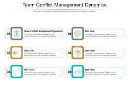Team Conflict Management Dynamics Ppt Powerpoint Presentation Summary Sample Cpb