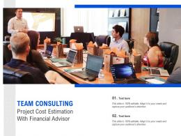 Team Consulting Project Cost Estimation With Financial Advisor