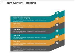 Team Content Targeting Ppt Powerpoint Presentation Model Deck Cpb