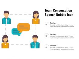 Team Conversation Speech Bubble Icon