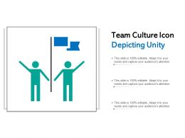 Team Culture Icon Depicting Unity